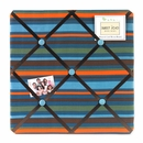 Surf Blue Collection Stripe Fabric Memo Board