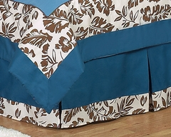 Surf Board Blue Tropical Hawaiian Collection Queen Bed Skirt