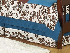 Surf Board Blue Tropical Hawaiian Collection Toddler Bed Skirt