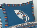 Surf Board Blue Tropical Hawaiian Pillow Sham by Sweet Jojo Designs