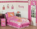 Surf Board Pink Tropical Hawaiian Bedding - Twin 4 Piece Set