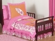 Surf Board Pink Tropical Hawaiian Toddler Bedding Set