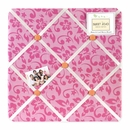Surf Pink Tropical Collection Fabric Memo Board