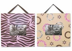 Sweet Safari Pink 2 Piece Picture Frame Set