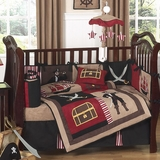 Treasure Cove Pirate Baby Bedding - 9 Piece Crib Set