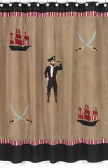 Treasure Cove Pirate Bathroom Shower Curtain by Sweet Jojo Designs