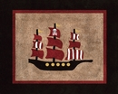 Treasure Cove Pirate Ship Accent Floor Rug by Sweet Jojo Designs