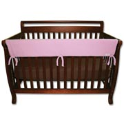 Trend Lab Crib Wrap Rail Guard - Long Pink Fleece