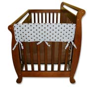 Trend Lab Crib Wrap Rail Guard - Short Max Dot Print