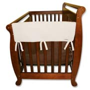 Trend Lab Crib Wrap Rail Guard - Short Natural Fleece