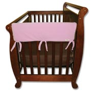 Trend Lab Crib Wrap Rail Guard - Short Pink  Fleece