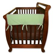 Trend Lab Crib Wrap Rail Guard - Short Sage Green Fleece