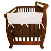 Trend Lab Crib Wrap Rail Guard - Short White Fleece