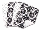Versailles Black & White Burp Cloth Set