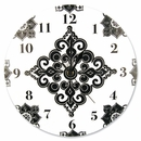 Versailles Black & White Wall Damask Clock by Trend Lab
