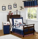 Vintage Aviator Airplane Toddler Bedding Set