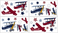 Vintage Aviator Airplane Wall Decals by Sweet Jojo Designs