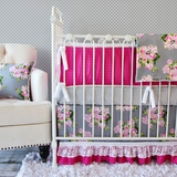 Vintage Floral Rose Baby Crib Bedding Set by Caden Lane