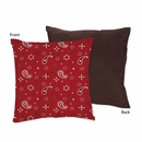 Wild West Cowboy Bandana Decorative Accent Throw Pillow