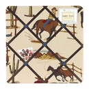 Wild West Cowboy Horse Print Fabric Memo Board