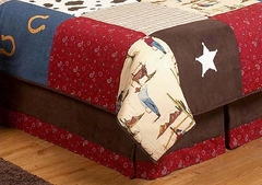 Wild West Cowboy Kids Bedding Queen Bed Skirt by Sweet Jojo Designs