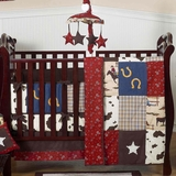 Wild West Cowboy Western - 9 Piece Crib Set