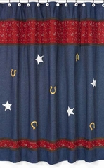 Wild West Cowboy Western Denim Shower Curtain
