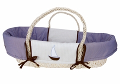 Yacht Club Nautical Sail Boat Moses Basket