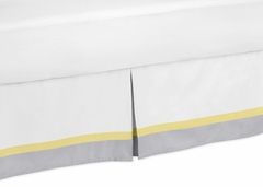 Yellow and Gray Mod Garden Collection Queen Bed Skirt