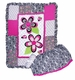 Zahara Black, White & Hot Pink Zebra Print Baby Crib Bedding 3pc Set