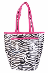 Zahara Black, White & Pink Zebra Print Mini Tote Diaper Bag