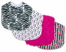 Zahara Zebra Print Collection Baby Bib Set by Trend Lab