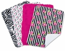 Zahara Zebra Print Collection Baby Burp Cloth Set by Trend Lab