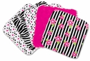 Zahara Zebra Print Collection Wash Cloth Set by Trend Lab