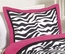 Zebra Print Pink Pillow Sham by Sweet jojo Designs