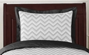 Zig Zag Chevron Black, White and Gray Collection Pillow Sham