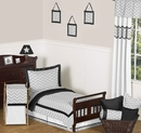 Zig Zag Chevron Black, White and Gray Toddler Bedding Set