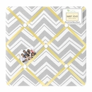 Zig Zag Chevron Yellow, White and Gray Fabric Memo Board