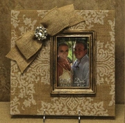 4 x 6 Printed Burlap Frame with Bow