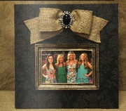 "6"" x 4"" Photo Frame Printed Black Damask"