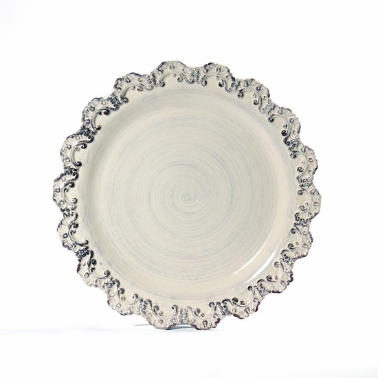 (A) Baroque Cream Plate Charger Set/4
