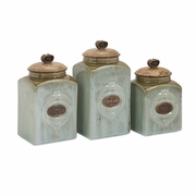 Addison Ceramic Kitchen Canisters - Set of 3