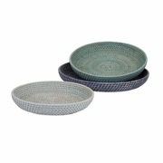 Adriel Rattan Trays - Set of 3