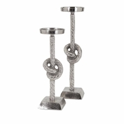Aluminum Rope Candleholders - Set of 2