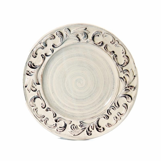 "(B) Baroque Cream Dinner Plate 11""D (4)"
