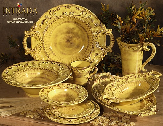 "(B) Baroque Honey 8.5"" Salad Plates Set of 4"