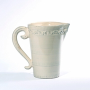 """Baroque Cream Collection- Pitcher, 9""""H, 2L"""