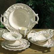 Baroque Cream Italian Ceramic Collection by INTRADA