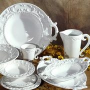 Baroque White Italian Ceramic Collection by INTRADA