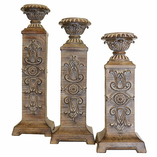 Clasico Washed Candleholder -Set of 3